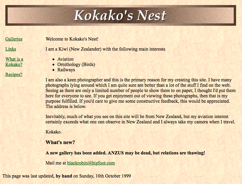 Kokako's Nest screen capture (1 of 2)